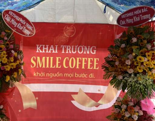 Từng bừng khai trương Smile Coffee Biên Hòa